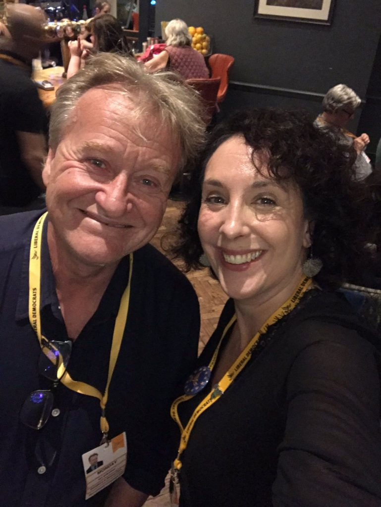 Ian Priestner and Daniela Parker at Lib Dem Conference in September 2019